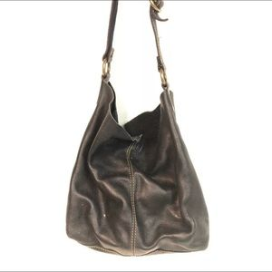 Lucky Brand Black Leather HoBo Slouch Bag